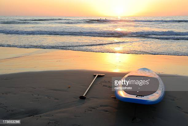 Surfboard at Sunset