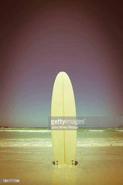 Surfboard on a beach. Australia.