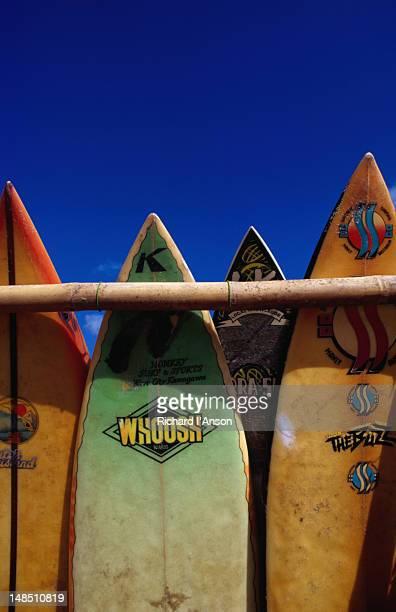 Surfboards for hire on Kuta beach.