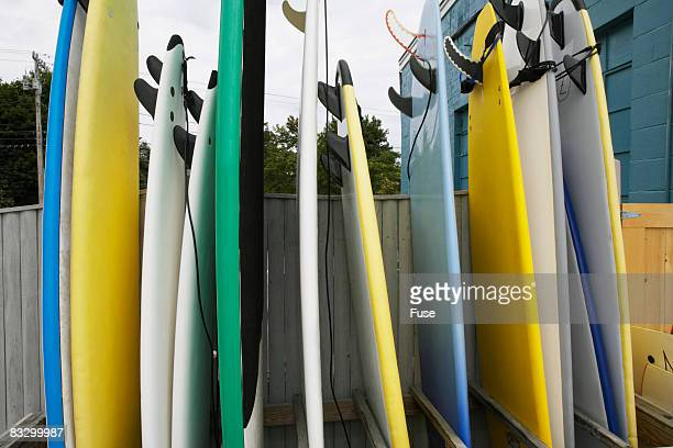 Surfboards in a Row