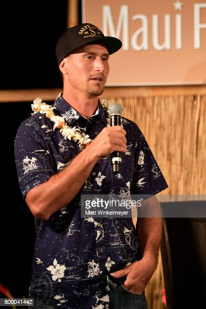 Surfer Aaron Gold speaks at the 'Celestial Cinema' during day two of the 2017 Maui Film Festival at Wailea on June 22 2017 in Wailea Hawaii