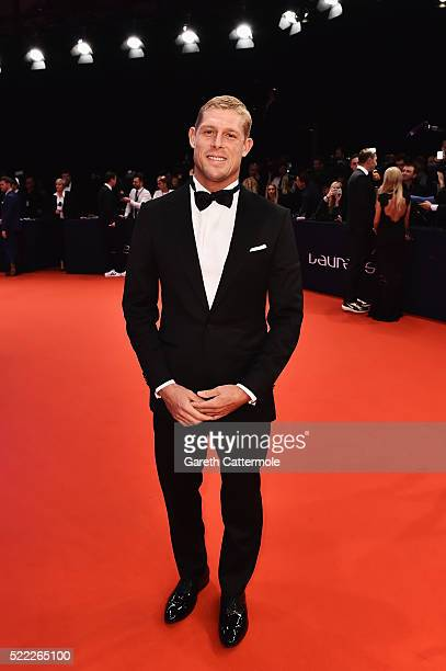 Surfer and Laureus World Comeback of the Year Award Nominee Mick Fanning attends the 2016 Laureus World Sports Awards at Messe Berlin on April 18...