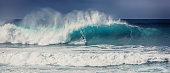 Surfer at Banzai Pipeline - Plate 1