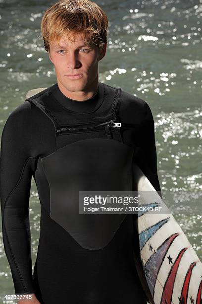 Surfer at Eisbach, Munich, Bavaria, Germany