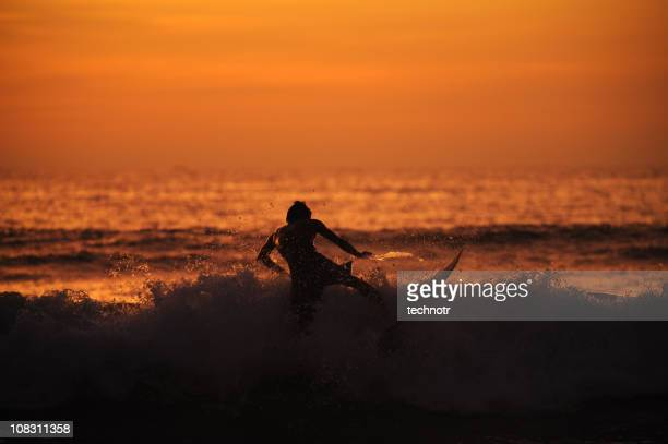 Surfer at Kuta beach