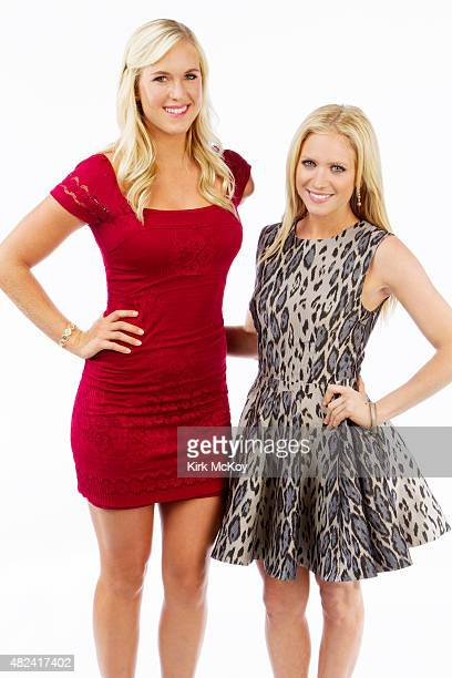 Surfer Bethany Hamilton and Actress Brittany Snow are photographed for Los Angeles Times on August 29 2011 in Los Angeles CA PUBLISHED IMAGE CREDIT...