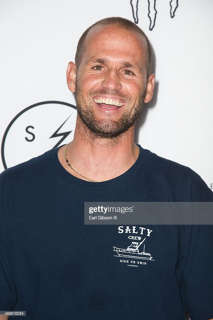 Surfer Damien Hobgood attends the World Premiere of 'Strange Rumblings In ShangriLa' at Pacific Air Center on July 31 2014 in Long Beach California