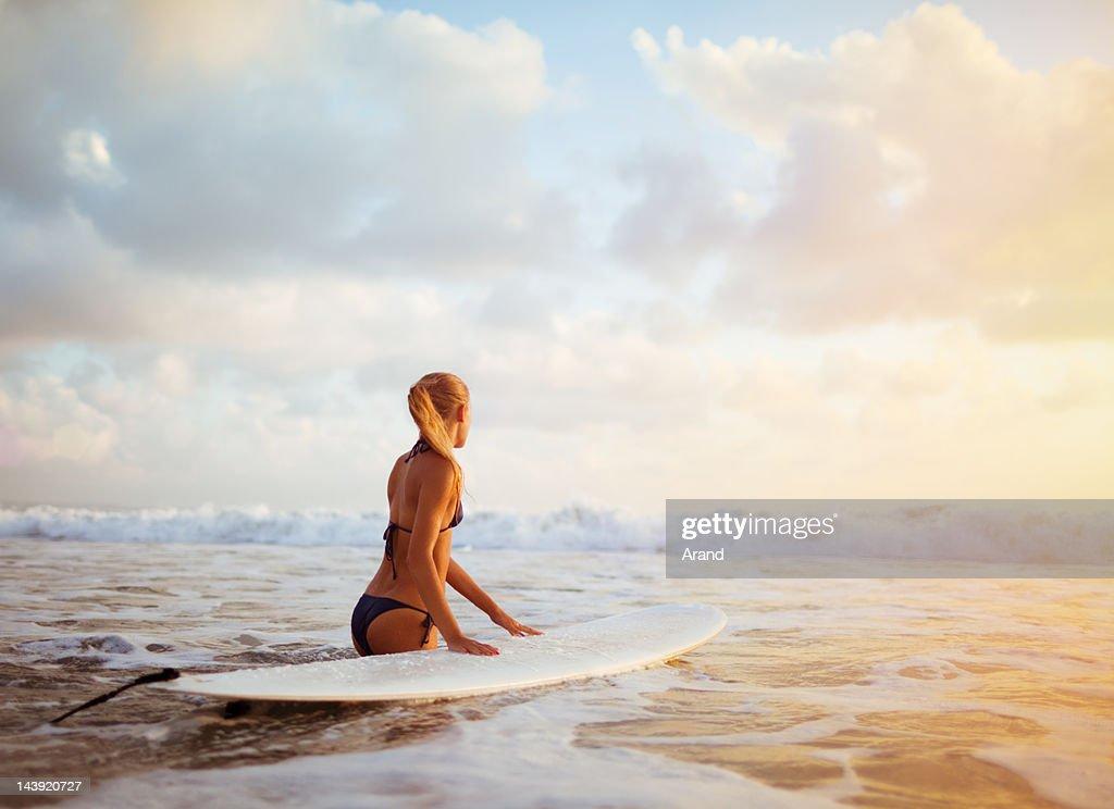 surfer girl : Stock Photo