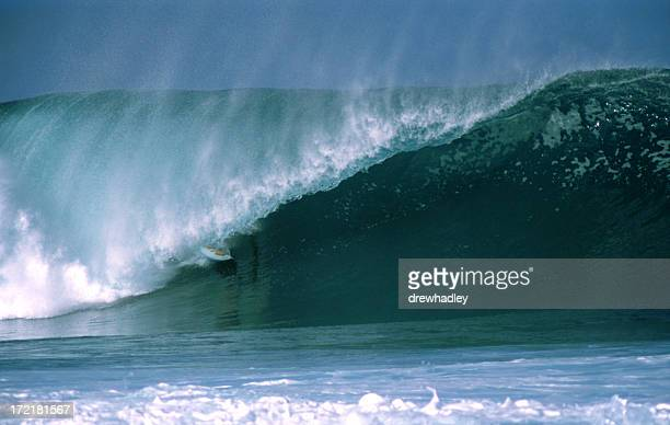 Surfer in barrel, Hawaii