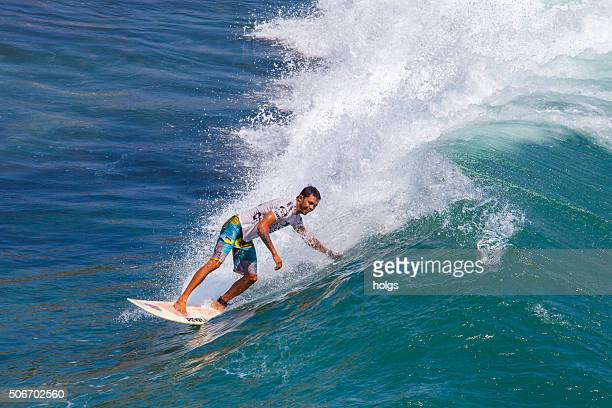 Surfer in Tanah Lot, Bali