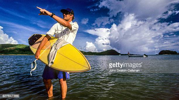 Surfer in the Pacific Ocean