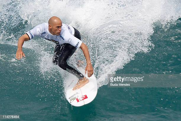 Surfer Kelly Slater of USA in action during the Round 1 of Billabong Rio Pro at Arpoador Beach on May 17 2011 in Rio de Janeiro Brazil Slater has...