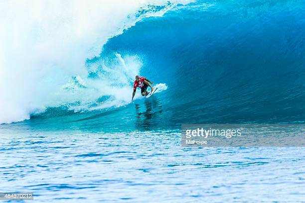 Surfeur Kelly Slater surf 2014 Billabong Pro Tahiti