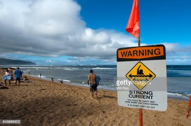 Surfer on the beach Ali'i Beach Park Haleiwa O'ahu