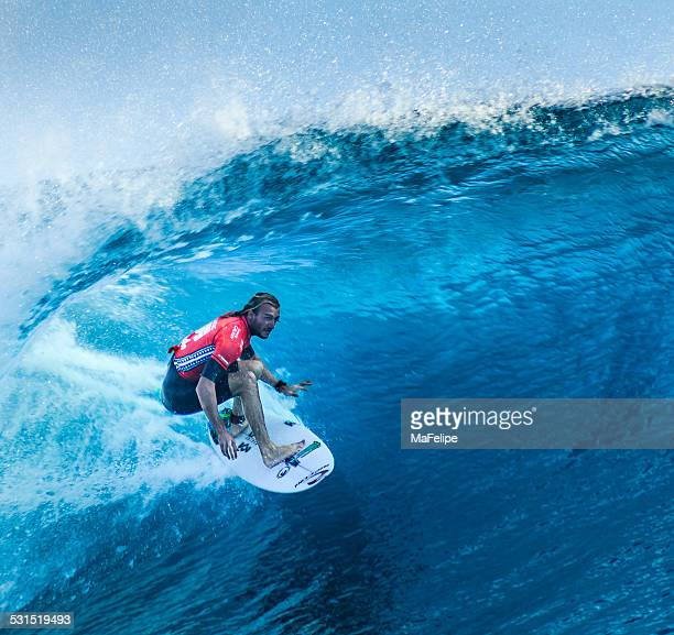 Surfer Owen Wright Surfing 2014 Billabong Pro Tahiti