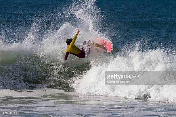 Surfer ripping a wave in California