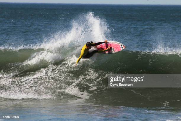 Surfer ripping a wave in southern California