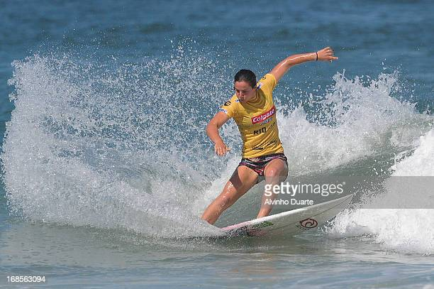 Surfer Tyler Wright in action during the Billabong Rio Pro at Barra da Tijuca Beach on May 11 2013 in Rio de Janeiro Brazil