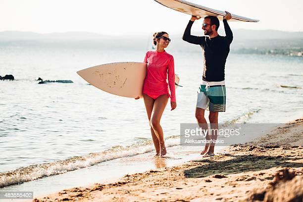 Surfeur à pied