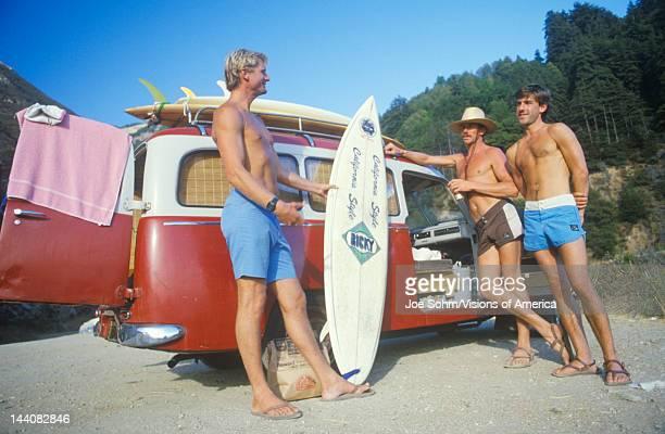 Surfers by VW van Northern CA