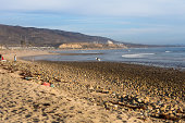Surfers enjoy a beautiful day at San Onofre