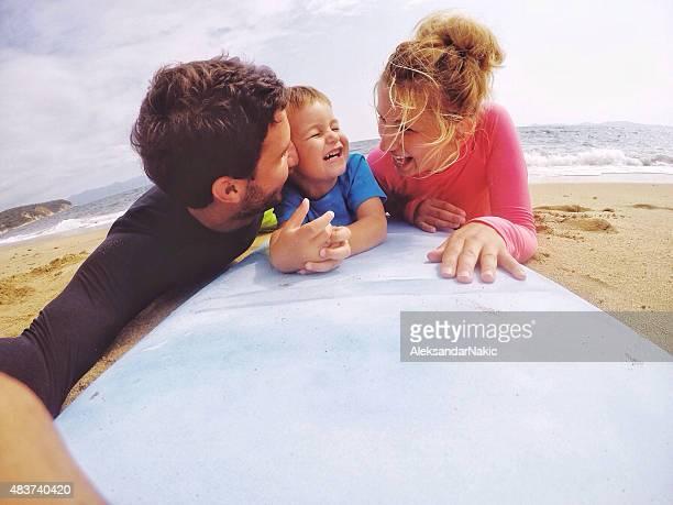 Surfer's en famille