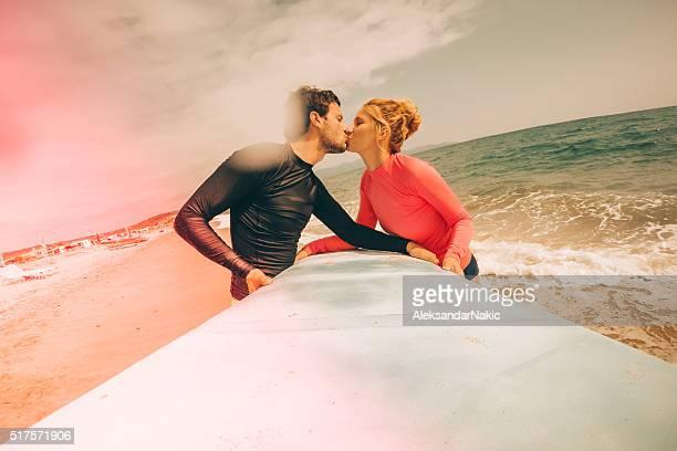 Surfer in love