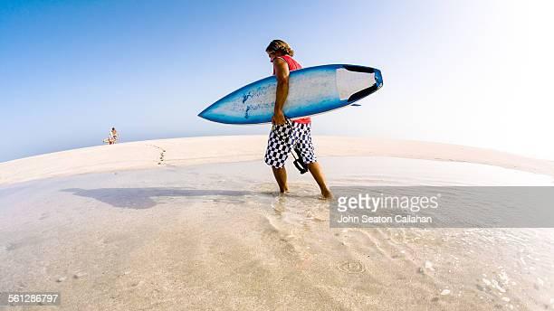 Surfers on Masirah Island