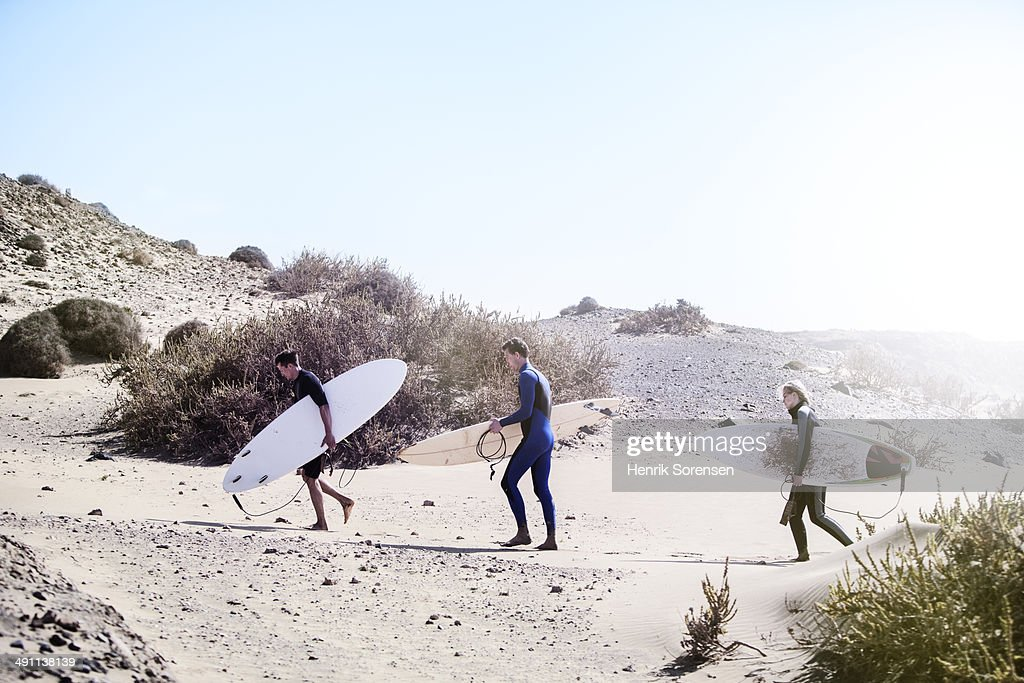 Surfers on the beach : Stock Photo