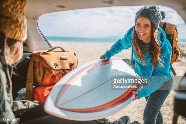 Surfers on the road trip