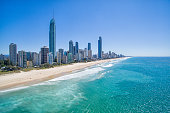 Surfers Paradise aerial photo on a clear day
