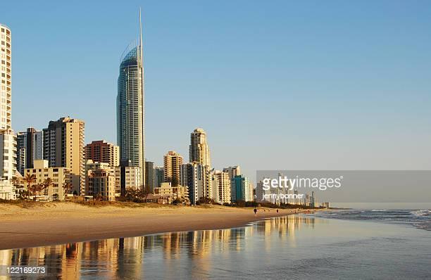Surfers Paradise, Gold Coast, Queensland, Australie, le littoral