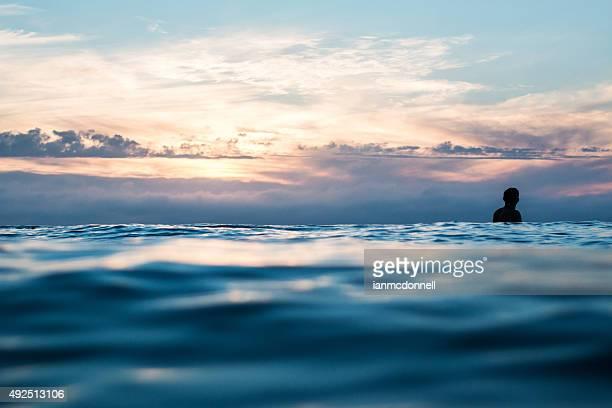 サーフィンの夕暮れ