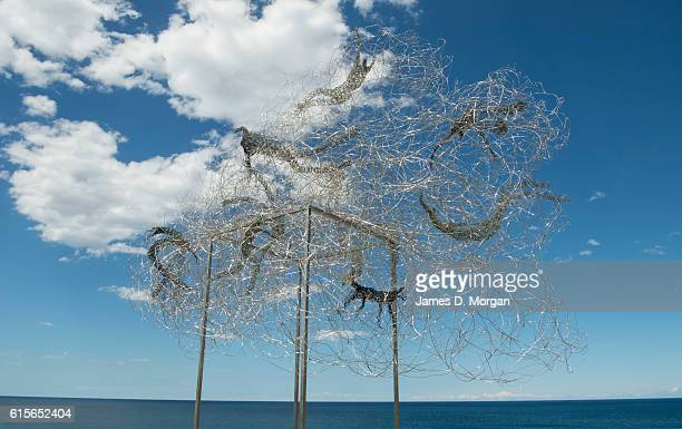 'Surfing Bondi clouds' by Barbara Licha at Sculpture By The Sea at Bondi Beach on October 19 2016 in Sydney Australia