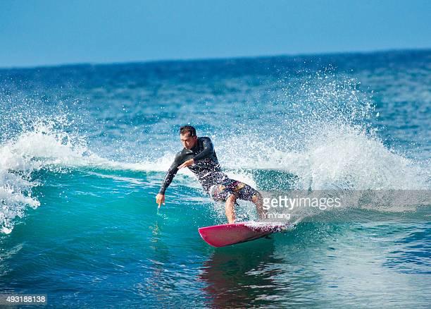 Surfing in Kauai Hawaii