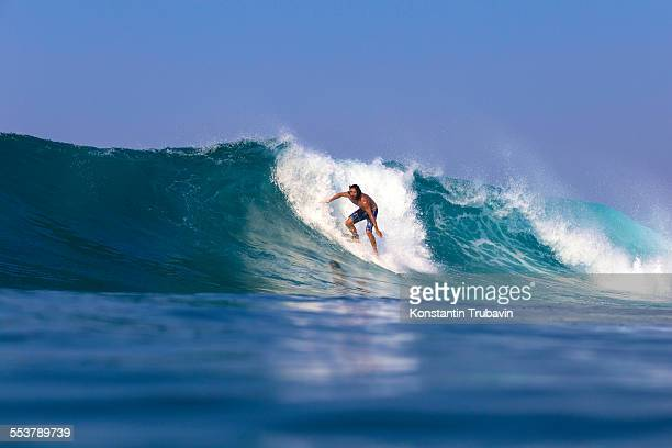 Surfing in West Sumbawa.Indonesia.
