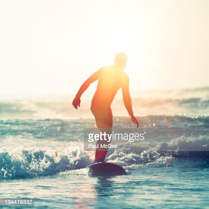 Surfing sunflare : Stock Photo