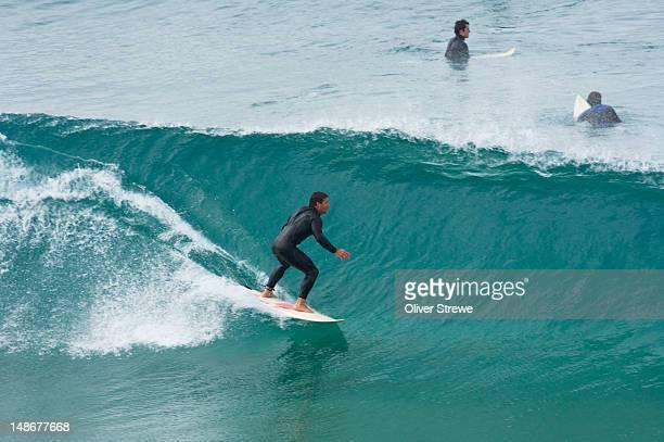 Surfing wave at Tamarama-Bronte.
