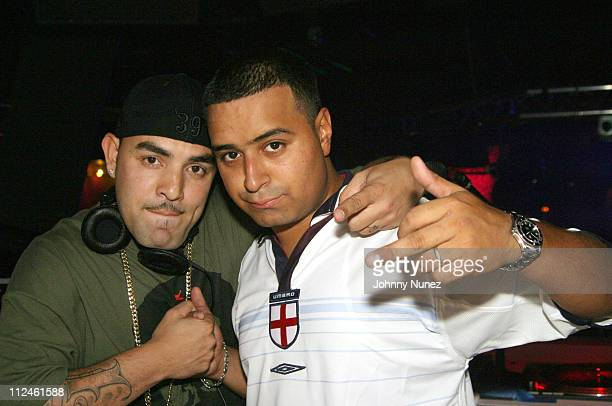 DJ Surge and DJ Camilo of Hot 971FM during Terror Squads Celebrates the Release of their New Album 'True Story' at Club Deep in New York City New...