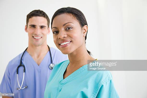 Surgeons in scrubs
