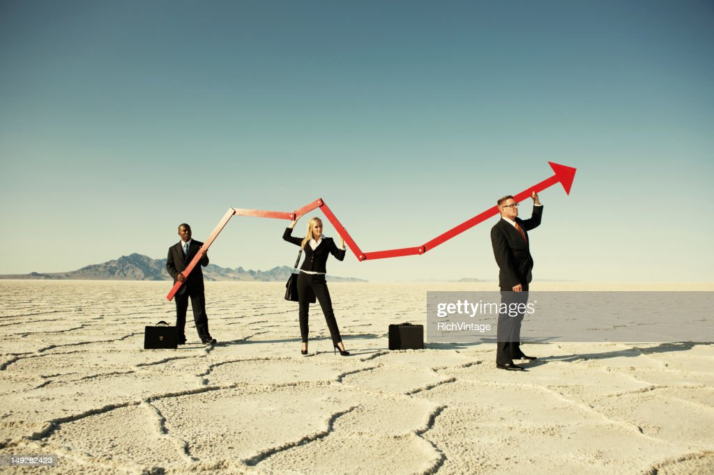 Surging Business : Stock Photo