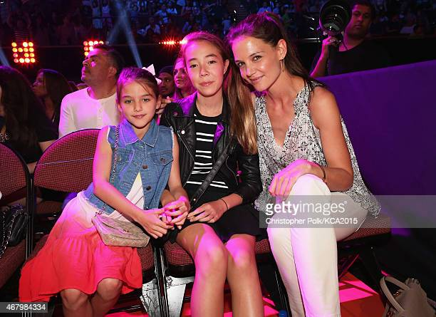 Suri Cruise and actress Katie Holmes attend Nickelodeon's 28th Annual Kids' Choice Awards held at The Forum on March 28 2015 in Inglewood California