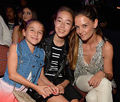 Suri Cruise and actress Katie Holmes with guest in the audience during Nickelodeon's 28th Annual Kids' Choice Awards held at The Forum on March 28...