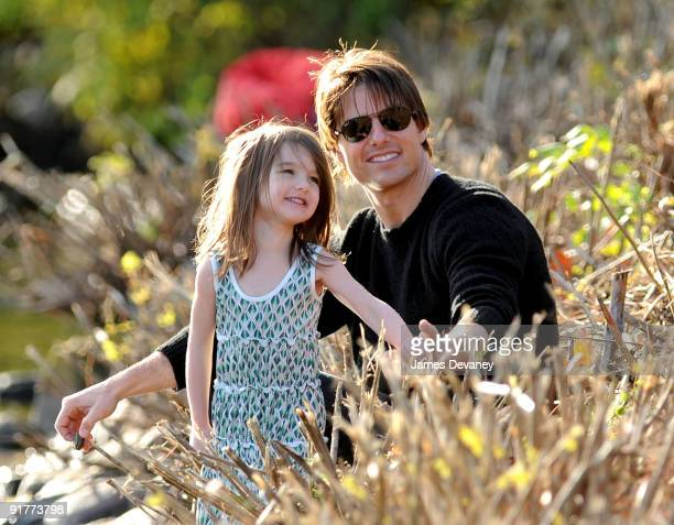 Suri Cruise and Tom Cruise visit Charles River Basin on October 10 2009 in Cambridge Massachusetts