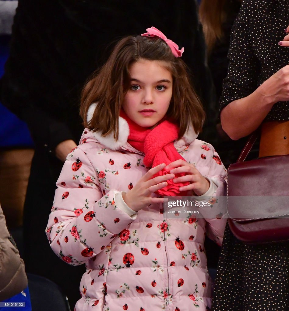 Suri Cruise attends the Oklahoma City Thunder Vs New York Knicks game at Madison Square Garden on December 16, 2017 in New York City.