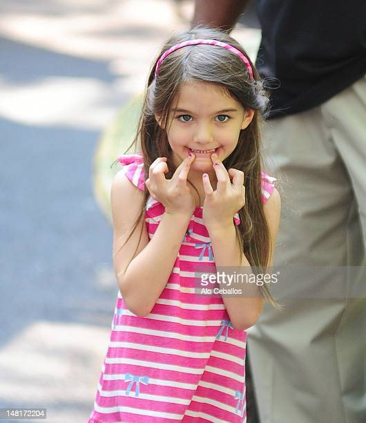 Suri Cruise is seen at the Central Park Zoo on July 11 2012 in New York City