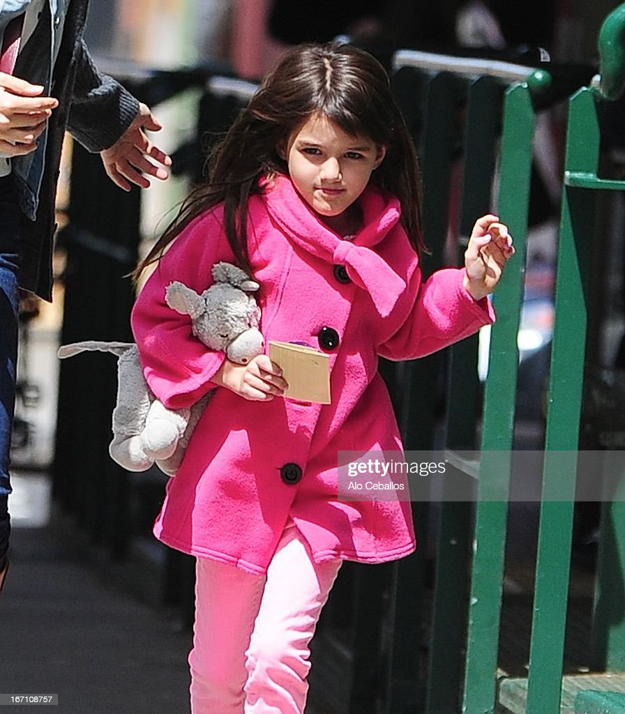 <a gi-track='captionPersonalityLinkClicked' href=/galleries/search?phrase=Suri+Cruise&family=editorial&specificpeople=4029470 ng-click='$event.stopPropagation()'>Suri Cruise</a> is seen in Tribeca on April 20, 2013 in New York City.