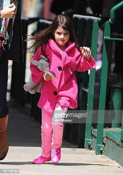 Suri Cruise is seen in Tribeca on April 20 2013 in New York City