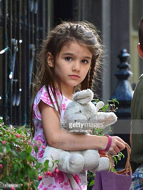 Suri Cruise leaves Alice's Tea Cup on 81st Street on July 5 2012 in New York City