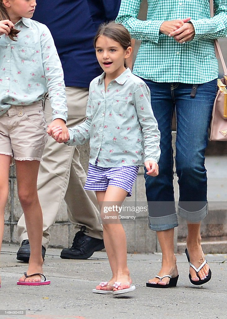 <a gi-track='captionPersonalityLinkClicked' href=/galleries/search?phrase=Suri+Cruise&family=editorial&specificpeople=4029470 ng-click='$event.stopPropagation()'>Suri Cruise</a> seen on the streets of Manhattan on July 28, 2012 in New York City.